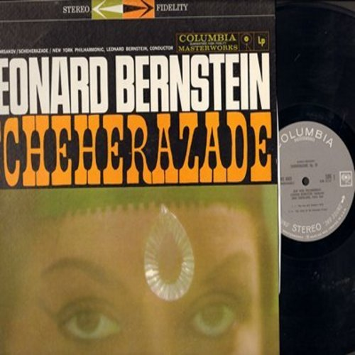 Bernstein, Leonard, New York Philharmonic - Rimsky-Korsakov Scheherazade - The Sea And Sinbad's Ship, Story Of Kalander Prince (Vinyl STEREO LP record) - NM9/NM9 - LP Records