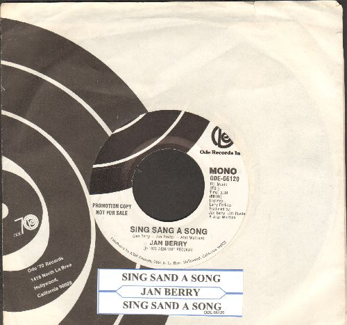 Berry, Jan - Sing Sang Song (MINT condition double-A-sided DJ advance pressing featuring MONO and STEREO version with vintage Ode company sleeve and juke box label) - M10/ - 45 rpm Records