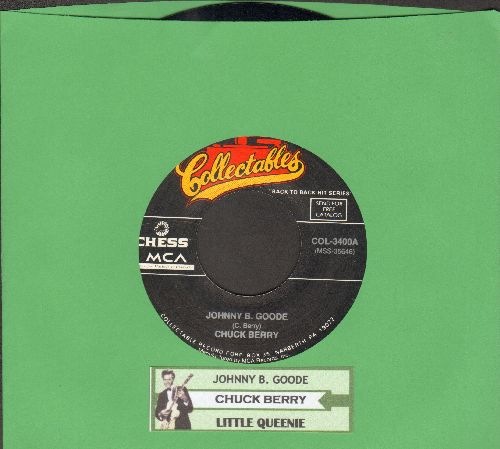 Berry, Chuck - Johnny B. Goode/Little Queenie (double-hit re-issue with juke box label) - NM9/ - 45 rpm Records