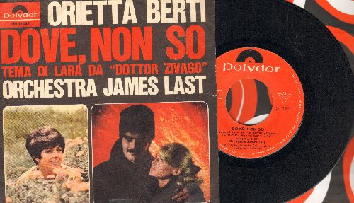 Berti, Orietta - Dove, Non So (Theme from -Doctor Zivago-)Una Bambola Inutile (German Pressing with picture sleeve, sung in Italian) - VG6/EX8 - 45 rpm Records