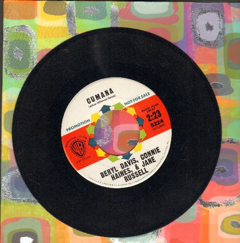 Davis, Beryl, Connie Haynes & Jane Russell - Cumana/Cumana Boogie (promo) - EX8/ - 45 rpm Records