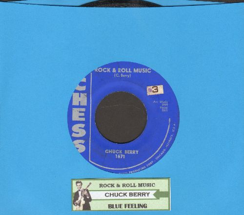 Berry, Chuck - Rock & Roll Music/Blue Feeling (with juke box label) - EX8/ - 45 rpm Records