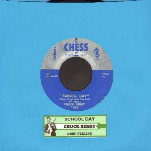 Berry, Chuck - School Day/Deep Feeling (with juke box label) - EX8/ - 45 rpm Records