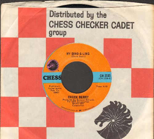Berry, Chuck - My Ding-A-Ling/Johnny B. Goode (with Chess company sleeve) - VG7/ - 45 rpm Records