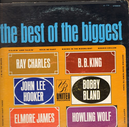 Charles, Ray, B. B. King, Bobby Bland, others - The Best Of The Biggest: Happy Home, Boogie Chillen, Dog Me Around, Dust My Blues (vinyl STEREO LP record) - NM9/VG6 - LP Records