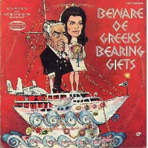 Booker, Bob & George Foster - Beware Of Greeks Bearing Gifts - Hilarious Jackie Onasis Parody (vinyl STEREO LP record) - NM9/EX8 - LP Records