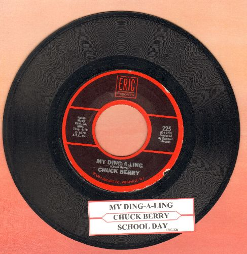 Berry, Chuck - My Ding-A-Ling/School Day (double-hit re-issue with juke box label) - EX8/ - 45 rpm Records