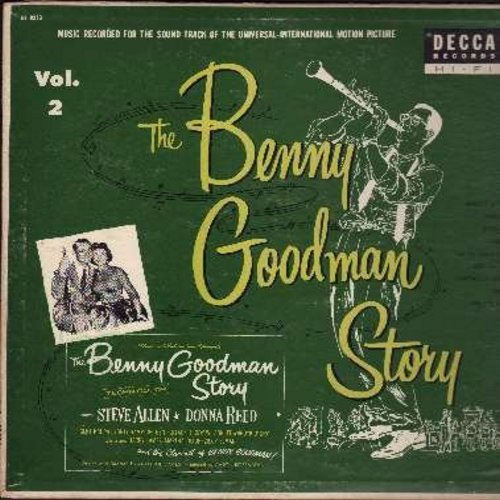 Goodman, Benny - The Benny Goodman Story Vol. 2 - Original Motion Picture Sound Track: Avalon, Memories Of You, Jersey Bounce, Sing Sing Sing (Vinyl MONO LP record, black label, silver lines first issue) - EX8/EX8 - LP Records
