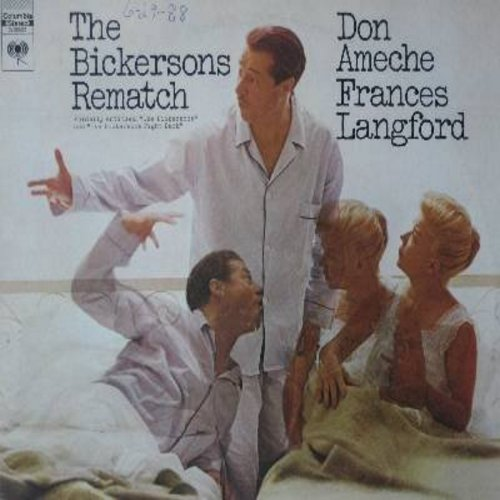 Ameche, Don & Frances Langford - The Bickersons Rematch: Breakfast With John And Blanche, Bickersons At Sea, Wedding Anniversary, Rounds 1 - 4 - America's Favorite Bickering Couple! Hilarious vintage Radio Comedy (vinyl STEREO LP record) - NM9/VG7 - LP Re