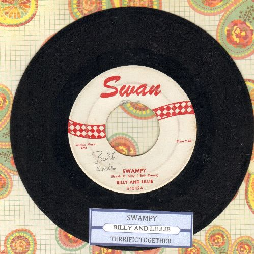 Billy & Lillie - Swampy/Terriffic Together (with juke box label) - EX8/ - 45 rpm Records