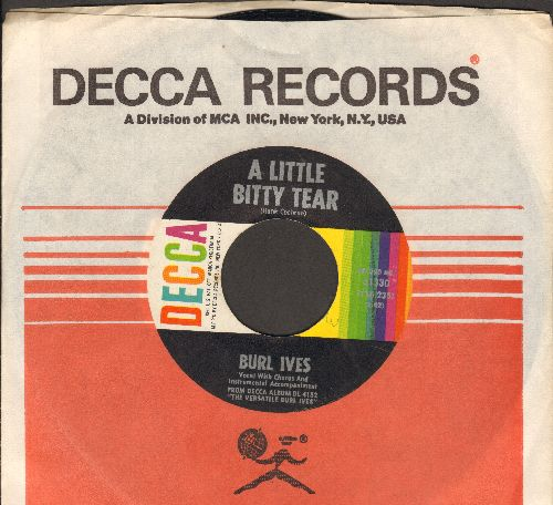 Ives, Burl - A Little Bitty Tear/Shanghied (with Decca company sleeve - NM9/ - 45 rpm Records