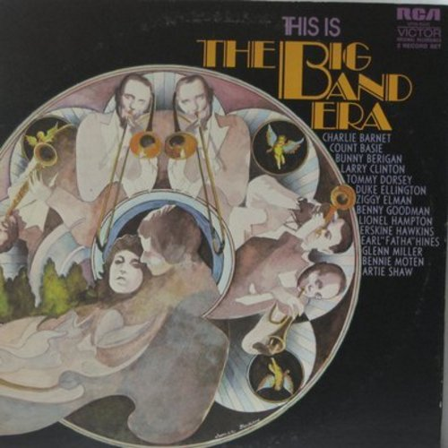 Miller, Glenn, Tommy Dorsey, Artie Shaw, others - This Is The Big Band Era: A String Of Pearls/In The Mood, 12th Street Rag, Take The A Train (2 vinyl LP record set, gate-fold cover) - EX8/EX8 - LP Records
