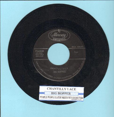 Big Bopper - Chantilly Lace/Purple People eater Meets Witch Doctor (with juke box label) - VG7/ - 45 rpm Records