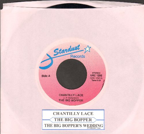 Big Bopper - Chantilly Lace/Big Bopper's Wedding (double-hit re-issue with juke box label) - NM9/ - 45 rpm Records
