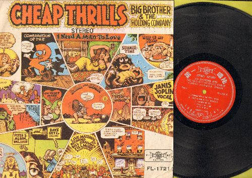 Big Brother & The Holding Company - Cheap Thrills: Piece Of My Heart, Summertime, Ball And Chain, Turtle Blues (vinyl Stereo LP record, RARE Taiwanese Pressing) - VG7/EX8 - 45 rpm Records