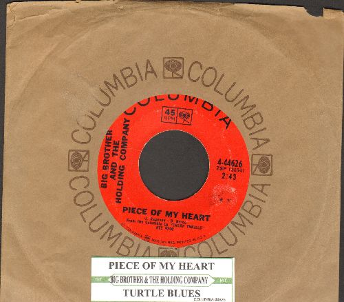 Big Brother & The Holding Company - Piece Of My Heart/Turtle Blues (with Columbia company sleeve and juke box label) - EX8/ - 45 rpm Records