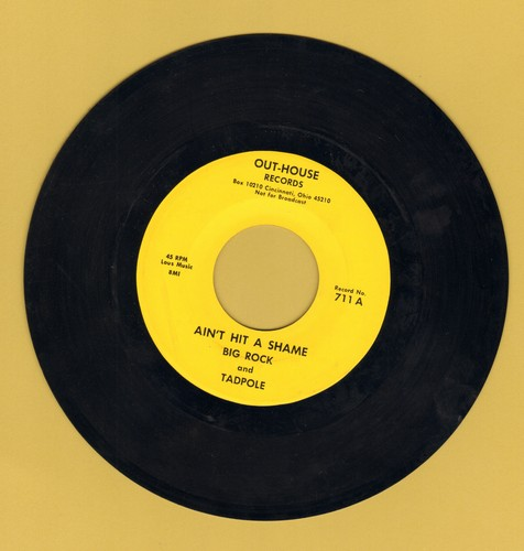 Big Rock & Tadpole - Ain't Hit A Shame/Beep-Beep Song (Risque humor) - EX8/ - 45 rpm Records