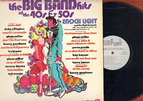 Light, Enoch & The Light Brigade - Big Band Hits Of The 40s & 50s: Sentimental Journey, Satin Doll, You Made Me Love You (vinyl STEREO LP record, gate-fold cover, DJ advance pressing) - NM9/EX8 - LP Records