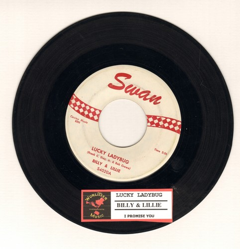 Billy & Lillie - Lucky Ladybug/I Promise You  - EX8/ - 45 rpm Records