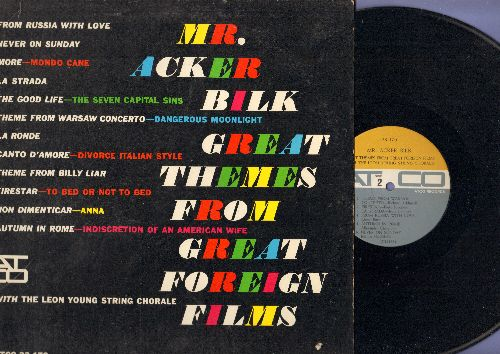 Bilk, Mr. Acker - Great Themes From Great Foreign Films: More, La Strada, La Ronde, Never On Sunday (vinyl MONO LP record) - NM9/EX8 - LP Records