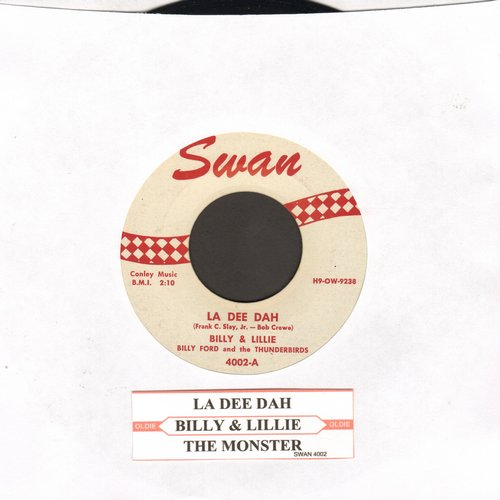 Billy & Lillie - La Dee Dah/The Monster (with juke box label) - NM9/ - 45 rpm Records