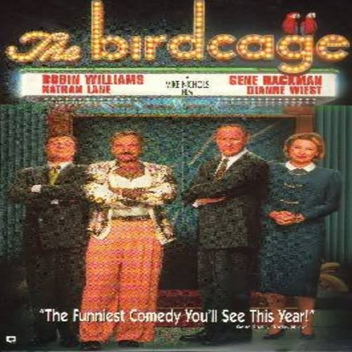 The Birdcage - The Birdcage - The Classic Comedy starring Robin Williams and Nathan Lane - THIS IS A LASER DISC, NOT ANY OTHER KIND OF MEDIA! - NM9/VG7 - Laser Discs