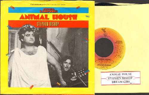 Bishop, Stephen - Animal House (Toga! Toga! Toda!)/Dream Girl (with picture sleeve) - EX8/EX8 - 45 rpm Records