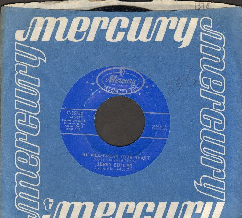 Butler, Jerry - He Will Break Your Heart/Make It Easy On Yourself (double-hit re-issue with Mercury company sleeve) - NM9/ - 45 rpm Records