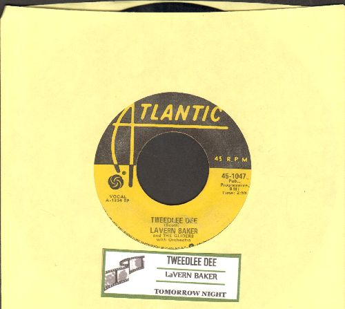 Baker, LaVern - Tweedlee Dee/Tomorrow Night (authentic-looking yellow label re-issue with juke box label) - EX8/ - 45 rpm Records