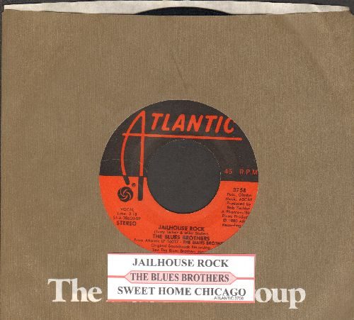 Blues Brothers - Jailhouse Rock/Sweet Home Chicago (with juke box label andAtlantic company sleeve) - EX8/ - 45 rpm Records