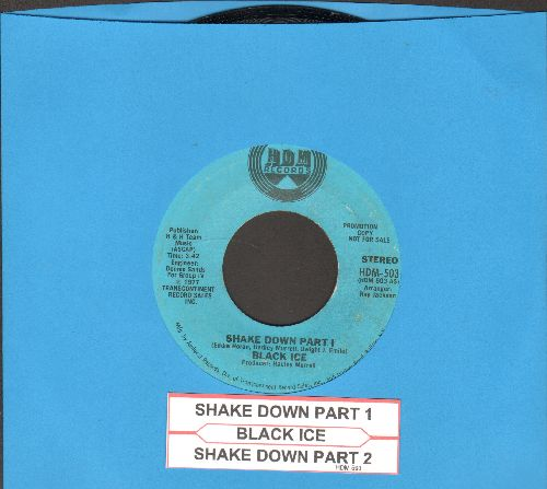 Black Ice - Shake Down (Parts 1 + 2) (with juke box label) - EX8/ - 45 rpm Records