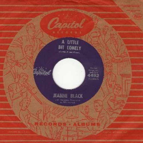 Black, Jeanne - A Little Bit Lonely/Oh, How I Miss You Tonight (with vintage Capitol company sleeve) - NM9/ - 45 rpm Records