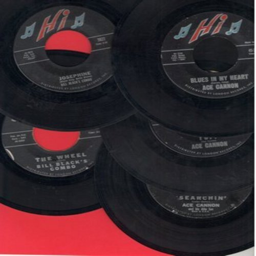 Cannon, Ace - Ace Cannon 5-Pack of first issue 45s in excellent condition. Hits includeTuff, Josephine, Blues In My Heart, The Wheel, Searchin'. Shipped in plain white paper sleeves and 6 blank juke box labels) - EX8/ - 45 rpm Records