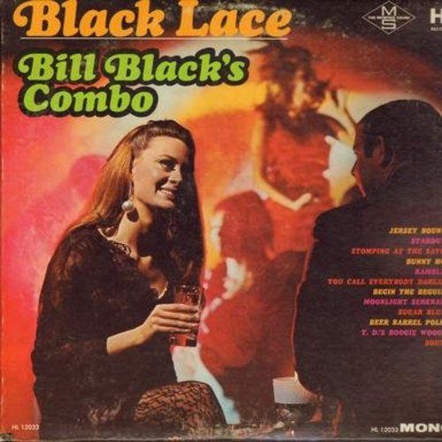 Black, Bill Combo - Black Lace: Bunny Hop, Beer Barrel Polka, Stomping At The Savoy, Jersey Bounce, T. D.'s Boogie Woogie (Vinyl MONO LP record) - NM9/EX8 - LP Records