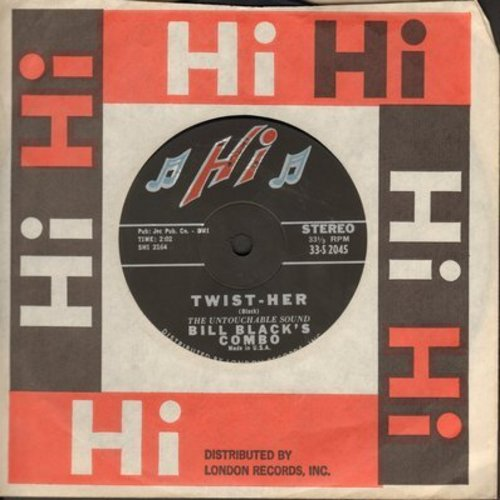Black, Bill Combo - Twist-Her/Night Train (RARE 7 inch 33rpm STEREO single with small spindle hole and Hi company sleeve) - EX8/ - 45 rpm Records