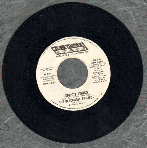 Blackwell Project - Explicit Lyrics/X-Plicit Lyrics (Instrumental) (DJ advance pressing) - M10/ - 45 rpm Records