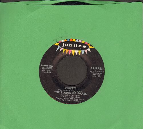 Blades Of Grass - Happy/That's What A Boy Likes (bb) - EX8/ - 45 rpm Records