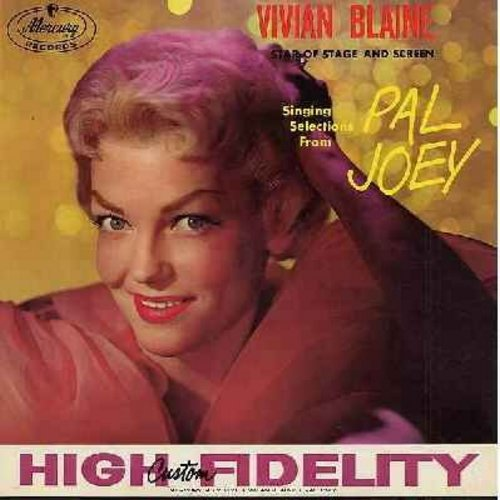 Blaine, Vivian - Vivian Blaine singing selections from Pal Joey and Annie Get Your Gun: Bewitched, Zip, Anything You Can Do, Doin' What Comes Naturally, There's No Business Like Show Business (Vinyl MONO LP record, NICE condition!) - NM9/EX8 - LP Records