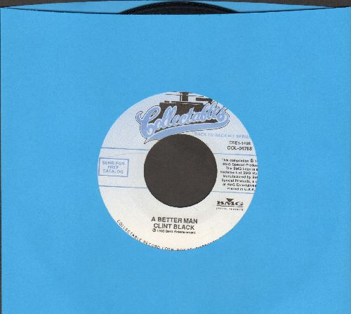 Black, Clint - A Better Man/Killing Time (double-hit re-issue) - NM9/ - 45 rpm Records