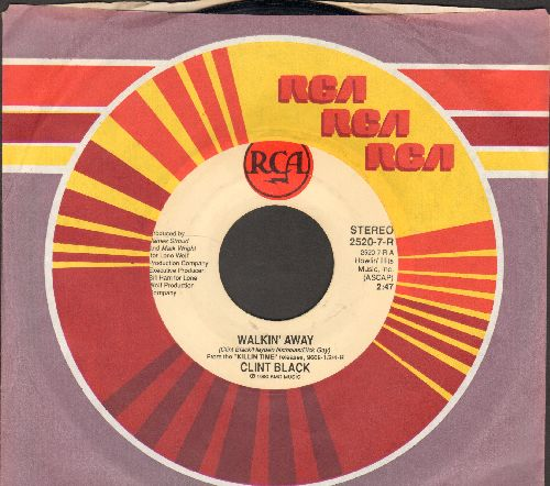 Black, Clint - Walkin' Away/Straight From The Factory (with RCA company sleeve) - EX8/ - 45 rpm Records