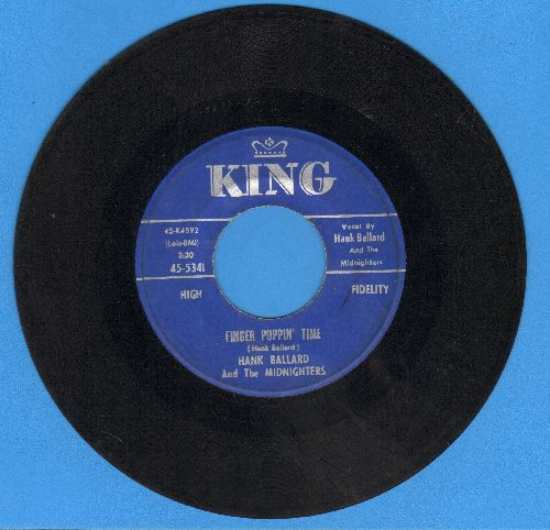 Ballard, Hank & The Midnighters - Finger Poppin' Time/I Love You, I Love You SO-S-O - VG7/ - 45 rpm Records