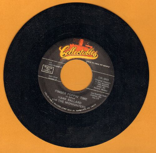 Ballard, Hank & The Midnighters - Finger Poppin' Time/Let's Go, Let's Go, Let's Go (double-Hit re-issue) - EX8/ - 45 rpm Records