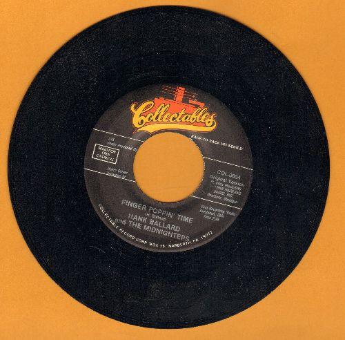 Ballard, Hank & The Midnighters - Finger Poppin' Time/Let's Go, Let's Go, Let's Go (double-Hit re-issue) - EX8/ - 45 rpm Records