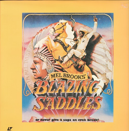 Blazing Saddles - Blazing Saddles - LASERDISC of the Mel Brooks Comedy Classic (This is a LASERDISC, not any other kind of media) - NM9/EX8 - LaserDiscs