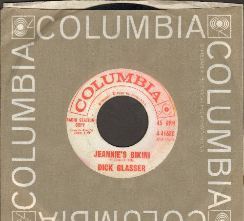 Glasser, Dick - Leave Me Alone (And Let Me Cry)/Jeannie's Bikini (with Columbia company sleeve)(wol) - VG7/ - 45 rpm Records
