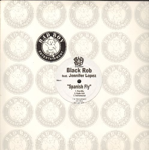 Black Rob featuring Jennifer Lopez - Spanish Fly/BR: 12 inch vinyl Maxi Single featuring 6 different Extended Dance Club Tracks of the Hip Hop Classics, RARE DJ advance pressing with Bad Boy company cover! - NM9/ - Maxi Singles