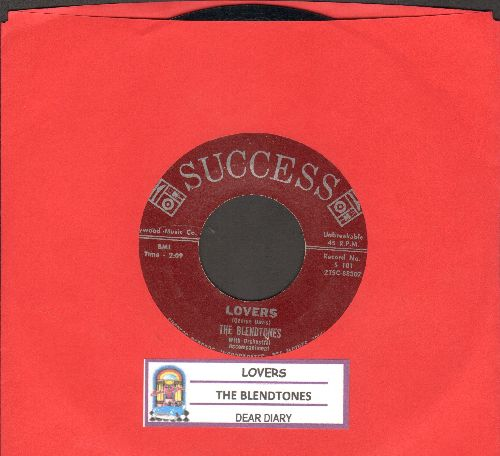 Blendtones - Lovers/Dear Diary (NICE condition with juke box label) - NM9/ - 45 rpm Records