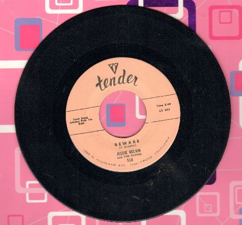 Belvin, Jessie - Beware/Endless Love (by The Capris on flip-side) (authentic-looking double-hit re-issue) - NM9/ - 45 rpm Records