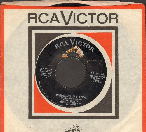 Belvin, Jesse - Pledging My Love/Funny (Vintage R&B 2-sider with RCA company sleeve) - VG7/ - 45 rpm Records