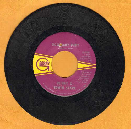 Blinky & Edwin Starr - Ooo Baby Baby/Oh How Happy (bb) - EX8/ - 45 rpm Records